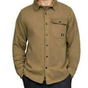 Under Armour Buckshot Button Up Fleece Jacket Brow